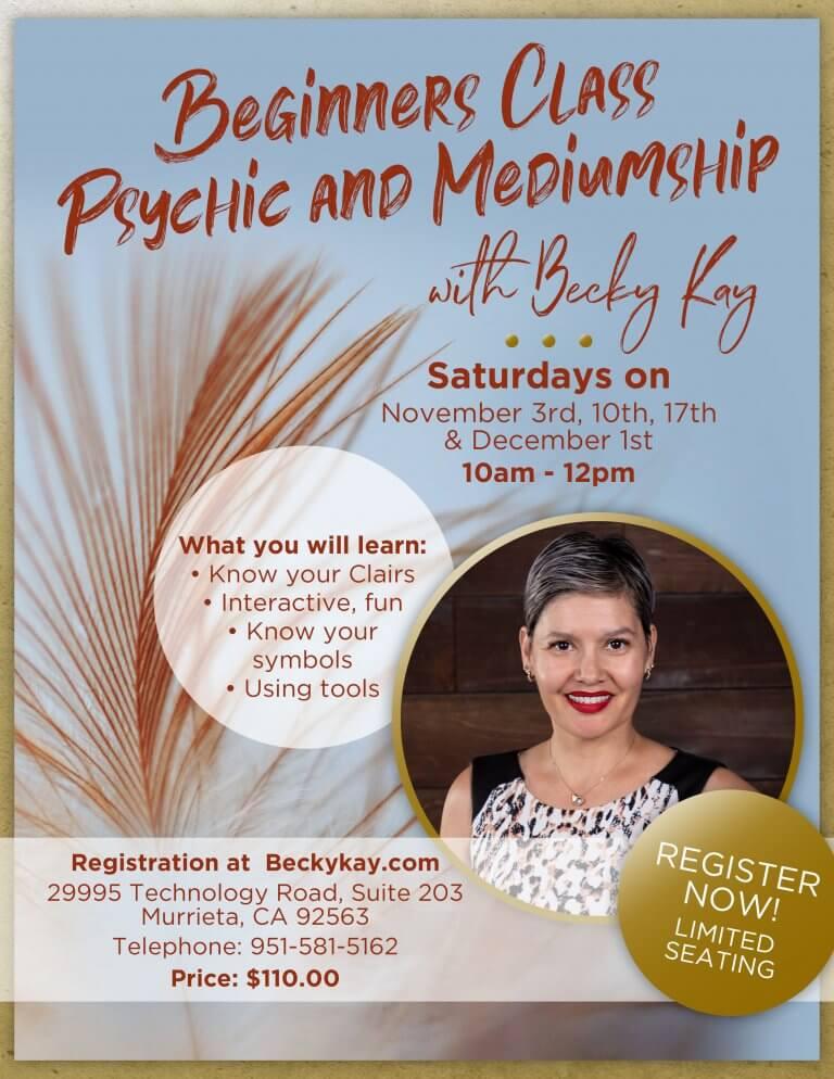 Becky Kay psychic medium events Murrieta CA Nov-Dec